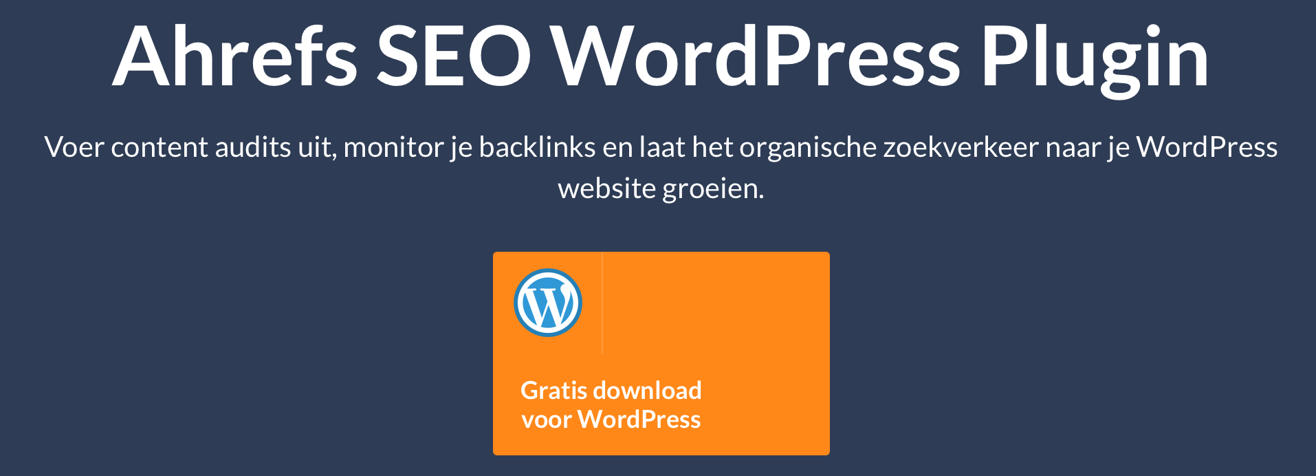 Ahrefs wordpress plugin